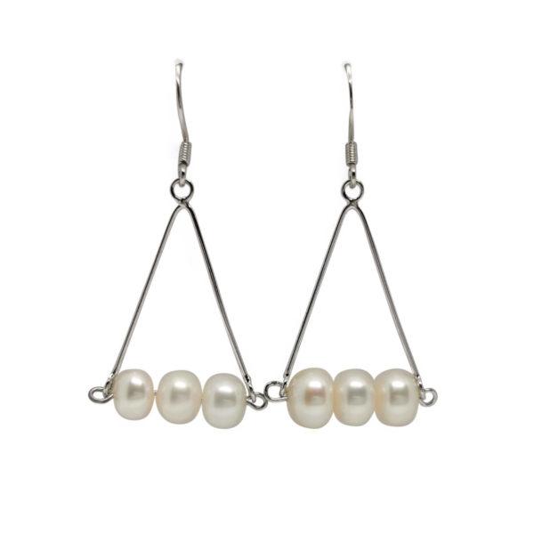 Lullu Tri Pearl Earrings