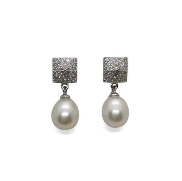 Lullu Bridal Drops Freshwater pearl earrings