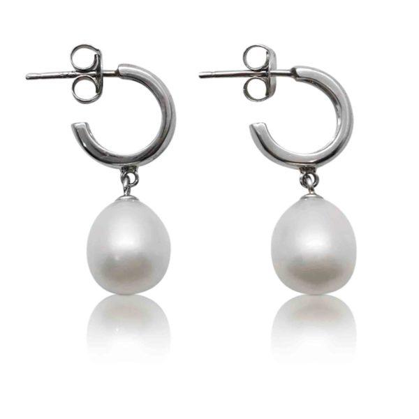 Pretty Lady Freshwater White Pearl Earrings