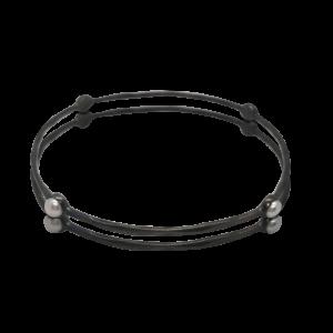 Orbit Pearl Bangle Black | Lullu Luxury Pearl Jewellery South Africa