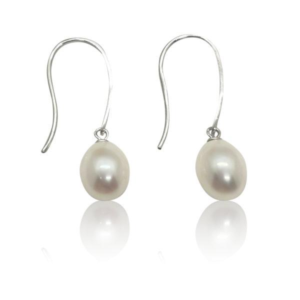 Angel Pearl Hook Earrings   Lullu Luxury Pearls South Africa