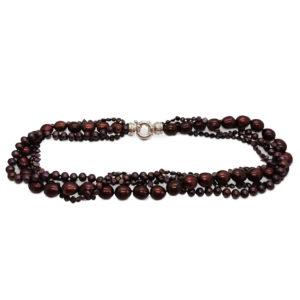 Purple Rain Multistring purple Pearl Necklace by Lullu luxury pearl jewellery