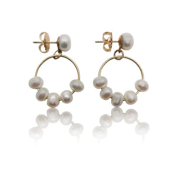 Chandelier The Bell Pearl Earrings 9ct Gold | Lullu Luxury Pearl Jewellery