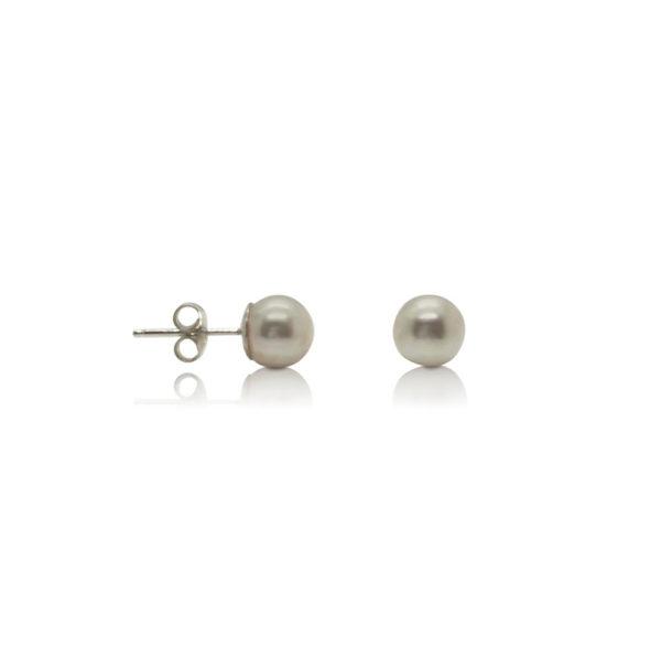 Marine Japan Saltwater Pearl Stud Earrings 7mm | Lullu Pearl Jewellery