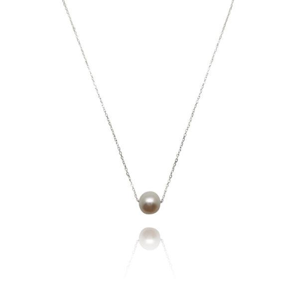 Sliding Freshwater Pearl Necklace | Lullu Luxury Pearl Jewellery